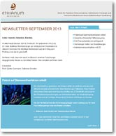 ETHIANUM Newsletter 2, September 2013